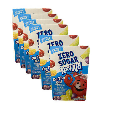 36 SINGLES Of KOOL AID TROPICAL PUNCH Singles To Go! Water Drink Mix! 6 BOXES • 10.84£