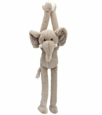 Keel Toys DANGLY ELEPHANT 55cm Tall LONG Sticky HANDS Soft Toy  • 10.50£