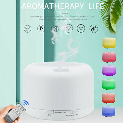 AU28.50 • Buy 500ml LED Aroma Diffuser Essential Oil Ultrasonic Air Aromatherapy Humidifier