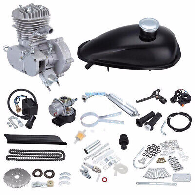 $ CDN303.17 • Buy 50cc 2-Stroke Petrol Engine Motor Kit For Cycle Motorized Bike Bicycle Chrome