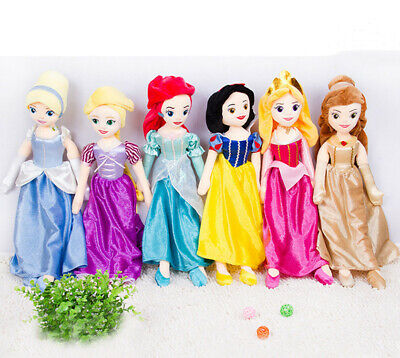 53CM Disney Princess Ariel Belle Toys Soft Stuffed Plush Doll Kids Gift Toys • 9.99£