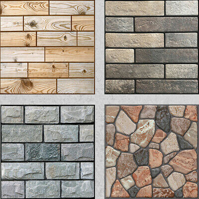 3D Wall Tiles Self-Adhesive Kitchen Bathroom Mosaic Brick Stickers Peel & Stick • 5.99£