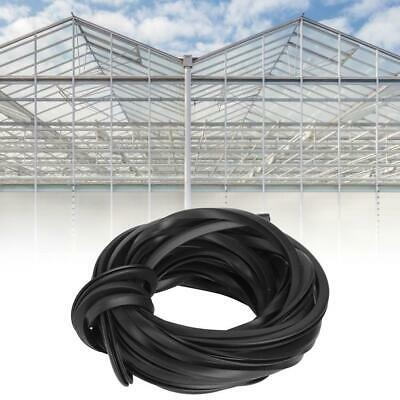 Black Greenhouse Rubber Strip Line Cable Greenhouse Supplies For Glass Sealing • 9.99£