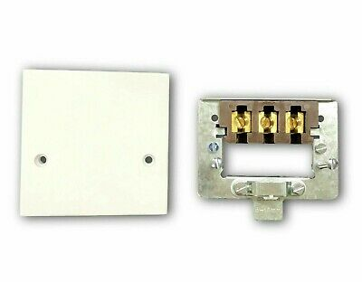 £6.93 • Buy Cooker Outlet Plate Connection Cover White Blank Front 45A 45Amp Oven Hob Square