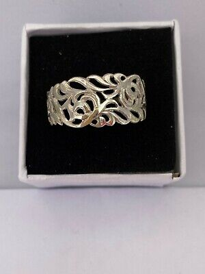 Solid Silver 925 Ladies Ring UK Handmade Size Available+ Gift Box • 21.99£