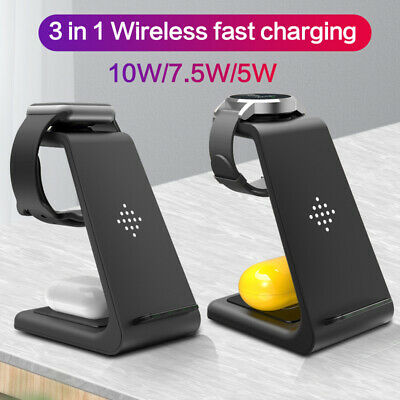 $ CDN43.82 • Buy 3 In 1 Wireless Charger For IPhone 11/XS TWS IWatch Charging Stand Dock Pad Qi