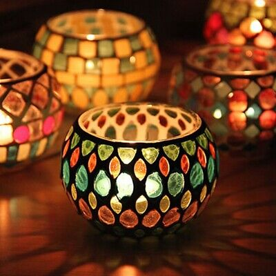 £6.57 • Buy Moroccan Mosaic Glass Votive Candle Holder Tea Light Candelabra Candlestick
