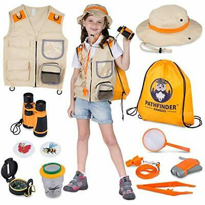 Kids Explorer Kit With Safari Vest & Hat - Premium Outdoor Gifts Toys For 3-12 • 35.99£