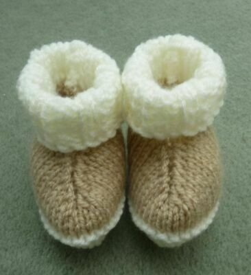 New Knitted Hand Made Baby Ugg Booties Bootees Boots In 3 Size Options • 4.50£