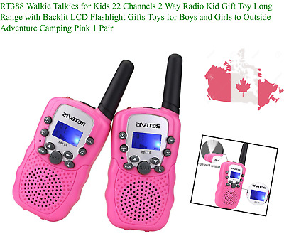 $ CDN46.19 • Buy RT388 Walkie Talkies For Kids 22 Channels 2 Way Radio Kid Gift Toy Long Range...