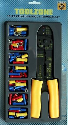 Crimper Pliers Crimping Tool Set Cable Wire Electrical Terminal 101pc Cutter 8  • 5.99£