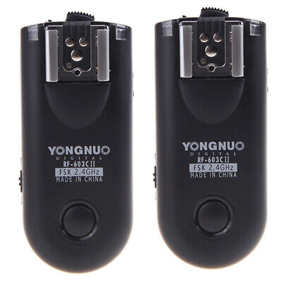 Yongnuo RF-603C II Wireless Remote Flash Trigger C3 For Canon 5D 50D Camera R3N1 • 27.76£