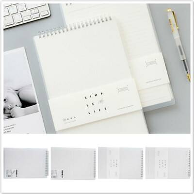 AU13.24 • Buy White Creative Notebook Student Supplies Book Write Paper + Plastic Notebook LS