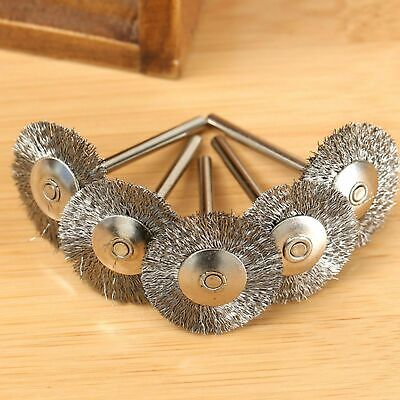 $ CDN8.74 • Buy 20Pcs 1/8  Shank Steel Wire Wheel Cup Rust Flat Brushes Power Rotary Drill Tool