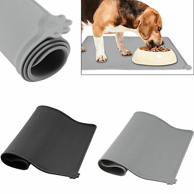 Pet Puppy Silicone Waterproof Feeding Food Mat Dog Cat Non Slip Bowl Placemat UK • 6.99£