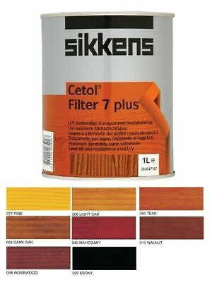 £32.95 • Buy Sikkens Cetol Filter 7 Plus Woodstain Paint 1L  All Colours Available