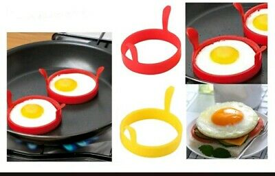2pcs Silicone Egg Frying Rings Fry Fried Poacher Mould For Pancakes Ring  • 2.99£