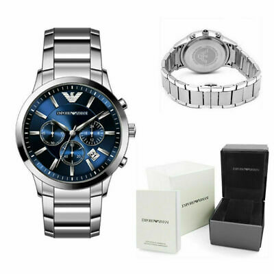 Emporio Armani AR2448 MENS WATCH BLUE DIAL STAINLESS STEEL WITH 2 YEARS WARRANTY • 46.95£