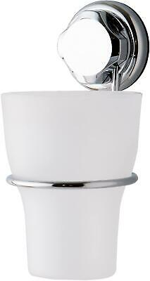 Bestlock Suction No Drilling Wall Mountable Toothbrush Holder With Cup, Chrome A • 6.92£