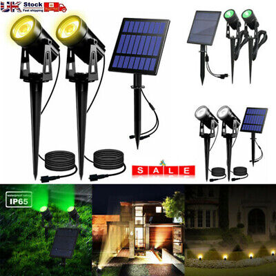 Solar LED Spot Lights Wall Lights Garden Light Outdoor Waterproof Yard Lamps UK • 14.89£