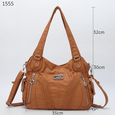 AU44.99 • Buy Soft Faux Leather Angel Kiss Ladies Fashion Designer Handbags