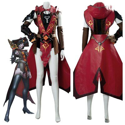 AU115.89 • Buy OW Overwatch Cosplay Ashe Costume Halloween Skin Outfit HAT