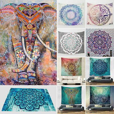 Indian Mandala Hippie Tapestry Blanket Wall Hanging Throw Beach Towel Decor Gift • 10.99£