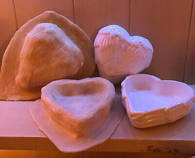 2 X Latex Moulds For Making This Beautiful ANGEL WING LIDDED DISH/TRINKET BOWL • 18.50£
