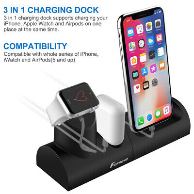 AU24.99 • Buy 3 In1 Charging Dock Station Holder Stand For Apple Watch AirPod IPhone X 8 7 TY