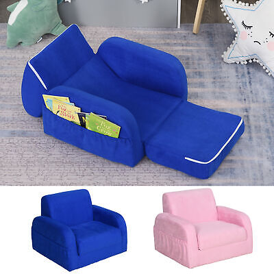 £49.99 • Buy 2 In 1 Kids Sofa Armchair Chair Fold Out Flip Open Baby Bed Couch Toddler Sofa