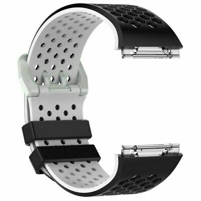 $ CDN10.23 • Buy L/S Size Rubber Watch Band Classic Bracelet Parts For Fitbit Ionic Smart Watch