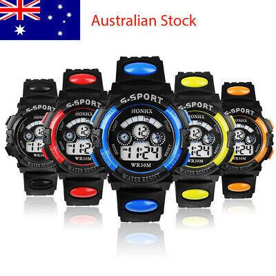 AU7.50 • Buy Kids Boys Girls Watches Digital Alarm Waterproof Sports Date Children Wristwatch