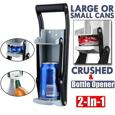 £8.99 • Buy 16oz Heavy Duty Beer Tin Can Crusher Wall Mounted Recycling Tool & Bottle Opener