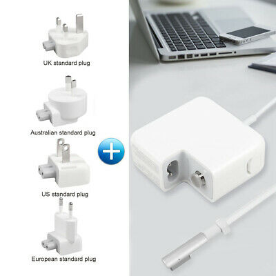 $24.99 • Buy 45W L-tip Replace Charger + 4 Plug For Mac Book Air 11/13 Inch A1369 A1370 A1374