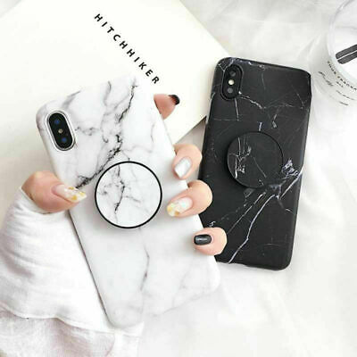 AU6.99 • Buy For IPhone 11 11 Pro Max Case Marble Pattern With Pop Up Holder TPU Shockproof