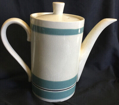 1960/70s Vintage Coffee Pot (Cream With Green Stripes)  • 8.90£