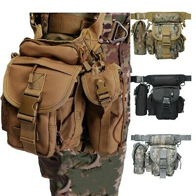 $25.99 • Buy Military Tactical Drop Leg Bag Tool Thigh Pack Leg Rig Utility Pouch Outdoor