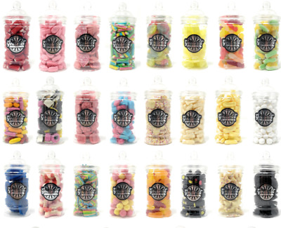 VICTORIAN RETRO SWEETS JAR (18cm) Pick N Mix RETRO Wedding Kids Candy Sweets • 5.71£