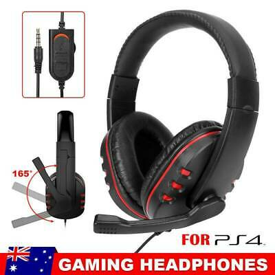 AU21.25 • Buy Stereo Gaming Headset Headphones 3.5mm With Mic Stereo For PC Laptop PS4