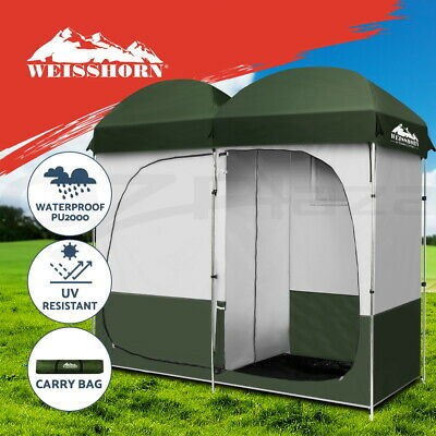 AU95.95 • Buy Weisshorn Double Camping Shower Toilet Tent Outdoor Portable Change Room Green