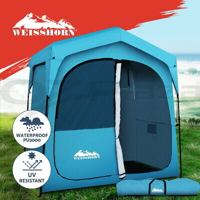 AU139.95 • Buy Weisshorn Pop Up Camping Shower Tent Portable Toilet Outdoor Change Room Blue
