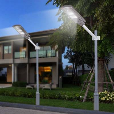 20/40/60W LED Wall Street Light Solar Powered PIR Motion Lamp Garden Road Path • 17.88£