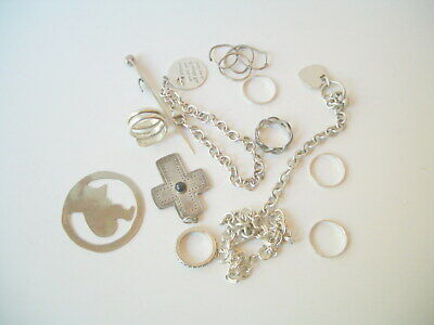 $ CDN99.02 • Buy Sterling Silver Jewelry Lot Rings Pendents Bracelets Plus 71.7 Grams Weight .925