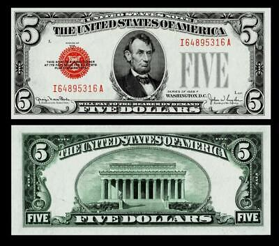 $ CDN69.81 • Buy 1928-F $5  Red Seal United States Note~~  UNCIRCULATED