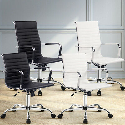 AU99.95 • Buy Artiss Gaming Office Chair Executive Computer Chairs Work Seat Black White