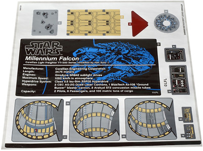 Lego Star Wars STICKER SHEET ONLY For Set 75192 Millennium Falcon 2nd EditionUCS • 17.99£