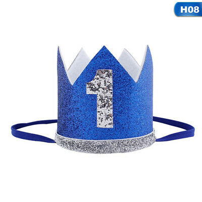 Baby Girl Boy Birthday Hat 1st Princess Crown Hair Accessories Party Head  @wi • 2.56£