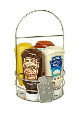Heinz Sauces Caddy Holder Condiment Retro Serving Box With Handle - BUY 2 GET 3 • 9£