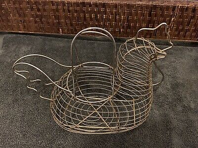 Stainless Steel Hen/chicken Egg Storage Basket Excellent Condition Great Item • 10£