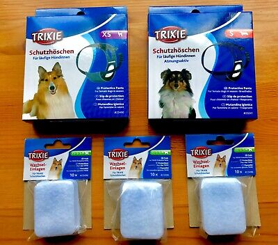 Female Small Dog Cat Sanitary Items Set Protective Pants Underwear Exchangeable  • 20£
